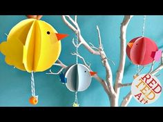 Easy Paper Chick Craft - Chick Easter Decoration - Red Ted Art's Blog