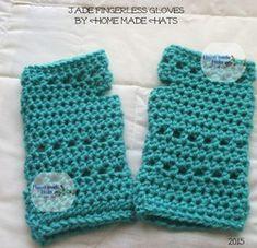 Jade Fingerless Gloves - Free crochet pattern by Cheryl Frye / Home made hats by Cheryl.