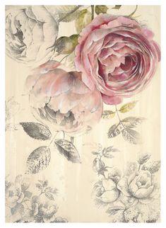 Ethereal Roses I Lámina