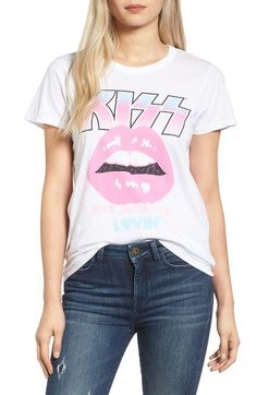 Free shipping and returns on Junk Food Kiss Tee at Nordstrom.com. Rock 'n roll all night—and party all day—in this super-cool boyfriend tee splashed with a bold KISS graphic.