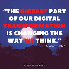 Digital transformation is not just getting access to the technology of tomorrow, it's about having a forward-thinking mindset and company culture. Small Business Uk, Seo Agency, Design Development, Perth, Entrepreneurship, Mindset, Hacks, Culture, Technology