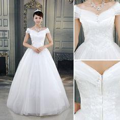 quente- venda estética ate noiva casamento vestido formal slit decote vestido de casamento da princesa US $48.30