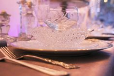 its all in the glass Winter Wonderland Wedding, Wedding Ideas, Tableware, Dinnerware, Tablewares, Dishes, Place Settings, Wedding Ceremony Ideas