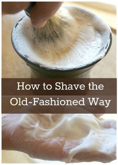 Avoid the harsh chemicals and enjoy a natural, closer shave! #naturalliving