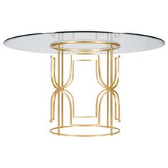 Worlds Away Jennifer Gold Leafed Dining Table @Zinc_Door #hollywood #regency