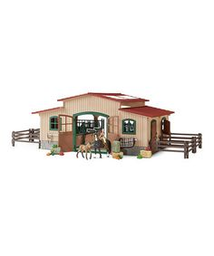 This Horse Stable Set by Schleich is perfect! #zulilyfinds
