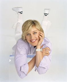 She starred in the popular sitcom Ellen from 1994 to 1998, and has hosted her syndicated TV talk show, The Ellen DeGeneres Show, since 2003. Description from pinterest.com. I searched for this on bing.com/images