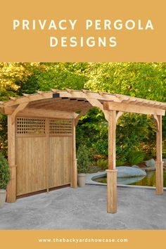 Privacy pergolas are the final touch to building your secluded backyard oasis. See images of pergolas with privacy screens and get inspired! Hot Tub Pergola, Patio Pergola, Hot Tub Backyard, Hot Tub Garden, Pergola Carport, Garden Beds, Hot Tub Privacy, Privacy Screen Outdoor, Privacy Trellis