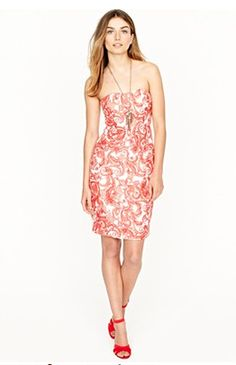JCrew Petra Dress- Whicket Red