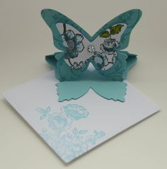 C@ro's kaartjes: Bag with mini butterfly easel cards (tutorial)