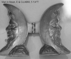 example of a vintage Ice Cream mold open // Photo via web. Chocolate Butter, Chocolate Ice Cream, Chocolate Molds, Ice Cream Candy, Ice Cream Cookies, Moon Cookies, Old Candy, Butter Molds, Vintage Ice Cream