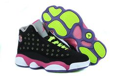 d24f95ce65fcc3 Find Girls Air Jordan 13 Retro Black-Pink Venom Green For Sale Lastest  online or in Pumaslides. Shop Top Brands and the latest styles Girls Air  Jordan 13 ...