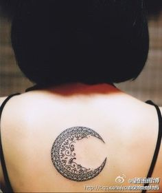 back moon tattoo
