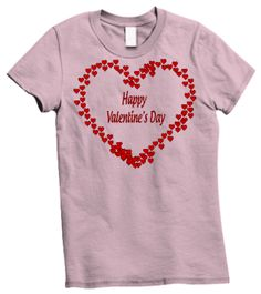 Happy Valentine's Day Shirt  #galloree #hearts #shirt #tops #tshirts #design #graphic #vector #cute #shirts #clothes