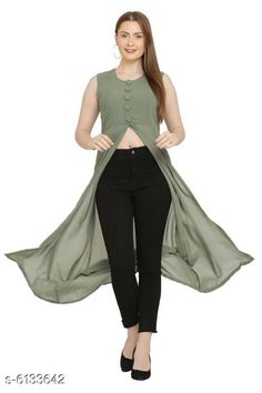 Tops & Tunics Women's Georgette Midi Tops Fabric: Georgette Sleeve Length: Sleeveless Pattern: Solid Multipack: 1 Sizes: S (Bust Size: 36 in Length Size: 48 in)  XL (Bust Size: 42 in Length Size: 48 in)  L (Bust Size: 40 in Length Size: 48 in)  M (Bust Size: 38 in Length Size: 48 in) Country of Origin: India Sizes Available: XS, S, M, L, XL   Catalog Rating: ★4.1 (20448)  Catalog Name: Women's Georgette Midi Tops CatalogID_933712 C79-SC1020 Code: 082-6133642-678