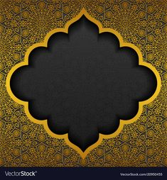 Floral background with traditional ornament vector image on VectorStock Islamic Art Pattern, Pattern Art, Wedding Invitation Background, Wedding Background, Background Images For Editing, Background Design Vector, Islamic Wallpaper, Islamic Pictures, Islamic Images