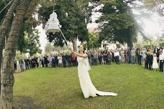 wedding pinata-how cute! fun for outdoor wedding with kids!