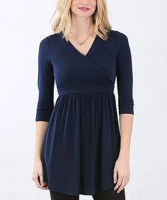 Look what I found on #zulily! Navy Empire-Waist Top #zulilyfinds