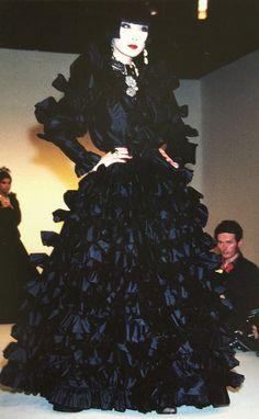 Sayoko Yamaguchi 山口小夜子 designed by Yves Saint-Laurent 1983-1984