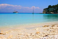 Damn it Greece - I heart you . Beautiful Waterfalls, Beautiful Beaches, Places To Travel, Places To See, Paxos Island, Exotic Beaches, Greek Islands, Greece Travel, Science And Nature
