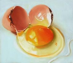 """Daily Paintworks - """"Egg Yolk still life pastel painting"""" - Original Fine Art for Sale - © Ria Hills Oil Painting Trees, Oil Painting For Sale, Oil Painting Supplies, Painting Classes, Oil Painting For Beginners, Crayon Drawings, Daily Painters, Realistic Paintings, Pastel Art"""