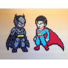 Batman vs. Superman hama beads by hamarol_