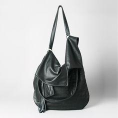 TUULI in black leather from RARAMODO by DaWanda.com
