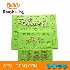 2016 New Cartoon DisneyFont Capital Lowercase Letter Number Silicone Mold