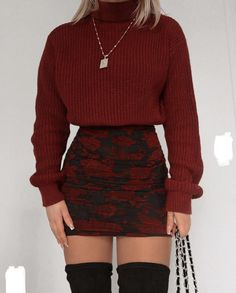 Winter Fashion Outfits, Edgy Outfits, Retro Outfits, Cute Casual Outfits, Look Fashion, Fall Outfits, Cute Date Outfits, Fashion Black, Grunge Outfits
