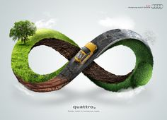 The Print Ad titled Infinity was done by Mexico City advertising agency for Audi in Mexico. It was released in Jan Clever Advertising, Print Advertising, Advertising Campaign, Print Ads, Marketing And Advertising, Ads Creative, Creative Posters, Creative Photos, Creative Ideas