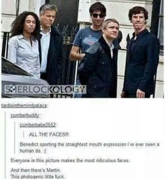 And funny faces from Sherlock Sherlock Bbc, Sherlock Fandom, Benedict Cumberbatch Sherlock, Sherlock Quotes, Jim Moriarty, Watson Sherlock, Sherlock Tumblr, Funny Sherlock, Sherlock Poster