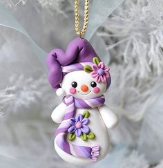 - This is s one of a kind, handcrafted ornament made of durable polymer clay, with much attention given to detail and careful construction. Polymer Clay Ornaments, Cute Polymer Clay, Cute Clay, Polymer Clay Creations, Dough Ornaments, Christmas Crafts For Kids To Make, How To Make Ornaments, Simple Christmas, Christmas Wishes