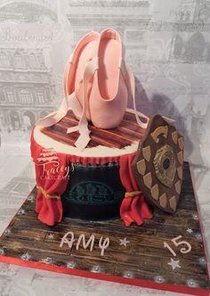 Ballet slippers, stage cake All edible