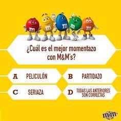 M&M's Espagna - La pregunta del millón de chocolate - ¿Con qué es mejor acompañar esa bolsa de M&M's guardada bajo ?
