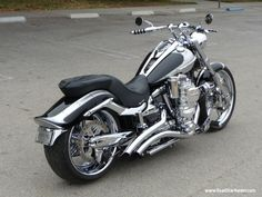 Yamaha - Star Stryker Custom - Google Search. This is the picture that started the fascination. We call it the Chrome Monster. According to the forum post, it is a super-charged Star Stryker.
