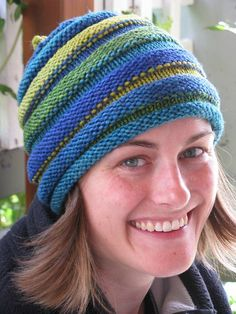 I knit 2 of these while traveling in China this year.  Great way to use up scrap yarn!