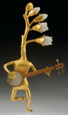 Figure Pin by Bruce Metcalf