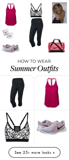 """workout outfit"" by mia-bella121 on Polyvore featuring NIKE"