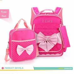 e2a2fe8b86f7 Cute Girls Bowknot Backpacks Kids Satchel Children Girl School Bags  Orthopedic Waterproof Backpack Child School Bag Mochila B160