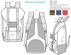 Новости Tech Pack, Backpack Pattern, Flat Sketches, Designer Backpacks, Drawing Bag, Bag Illustration, Fashion Sketches, Backpack Straps, Technical Drawing