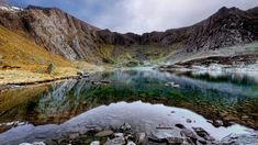 Llyn Idwal, in the Ogwen Valley, Snowdonia. Taken by Iwan Williams