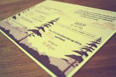 Wedding Invitation by Sam White, via Behance