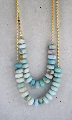 amazonite rondelle necklace