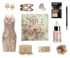 Smile, It's Friday! by profumeriesabbioni on Polyvore featuring bellezza, Rifle Paper Co, Accessorize, Carolee, Topshop, Yves Saint Laurent, Jimmy Choo, weekend, friday and Diego dalla Palma
