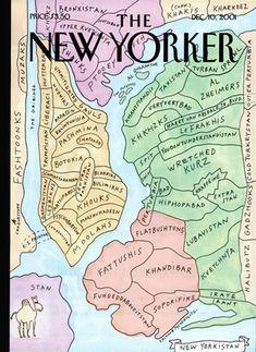 """New Yorkistan"" by Maira Kalman and Rick Meyerowitz. The New Yorker, December 10, 2001"