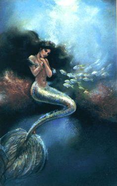 Merman real and mermaid