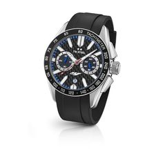 TW Steel Watch YAMAHA FACTORY RACING GS01: Premier class watches, Yamaha Factory Racing Grandeur Sport timepiece. This model sports a big caliber chrono movement, a carbon dial with the YZR-M1 logo, and a black rubber strap.