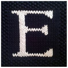 PDF Knitting pattern capital letter E afghan / blanket square - PDF will be emailed after purchase         June 14, 2015 at 07:08AM