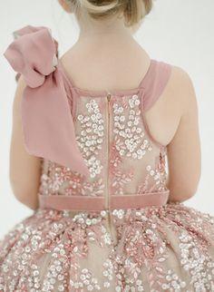 The Katy Flower Girl Dress Rose di DolorisPetunia su Etsy