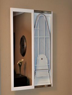 22 DIY Wall-Mounted Laundry Room Lint BinDon't be concerned if your house has a current niche for an entertainment center because it'll be manufactured especially for the space you've got. Diy Wand, Laundry Room Organization, Laundry Room Design, Ironing Station, Loft Interior Design, Interior Livingroom, Diy Home Decor, Room Decor, Iron Board